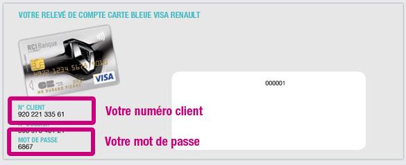 carte bleu visa renault Comment retrouver mon numéro client